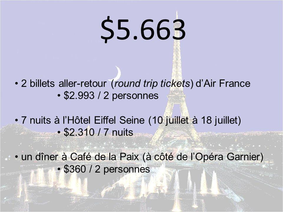 un voyage à Paris.