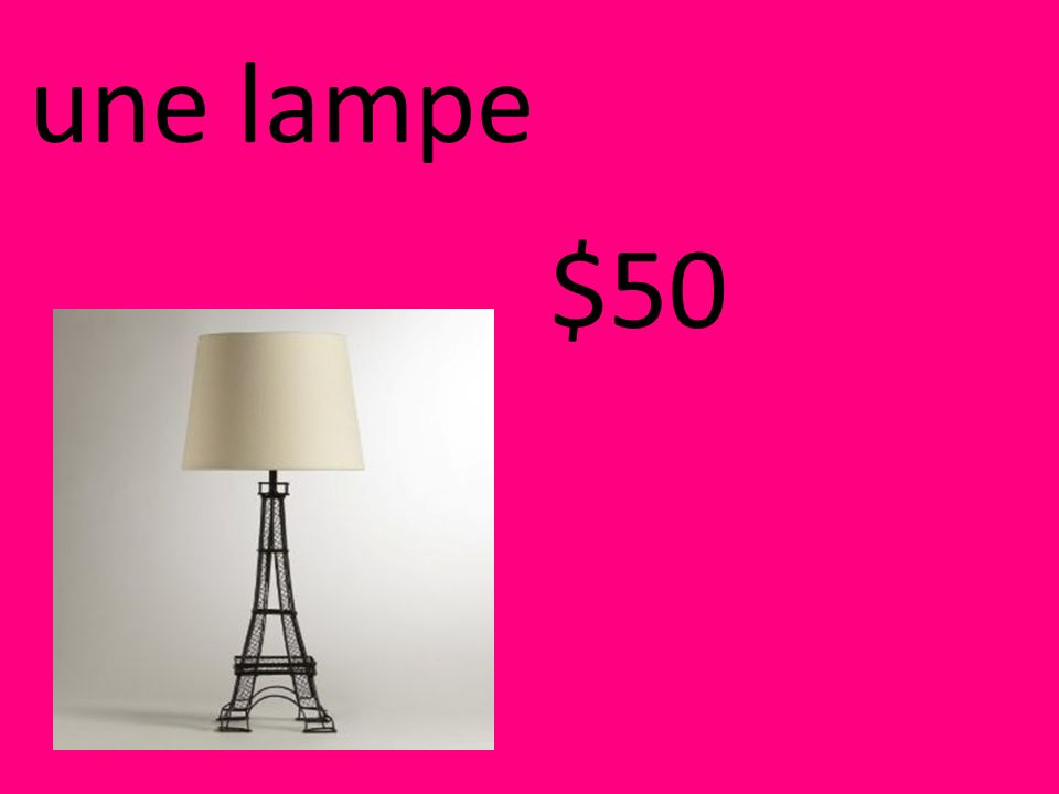 une lampe $50