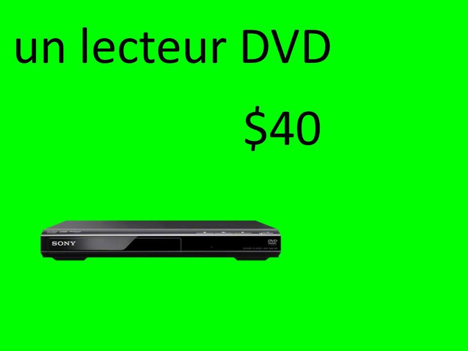 un lecteur DVD $40