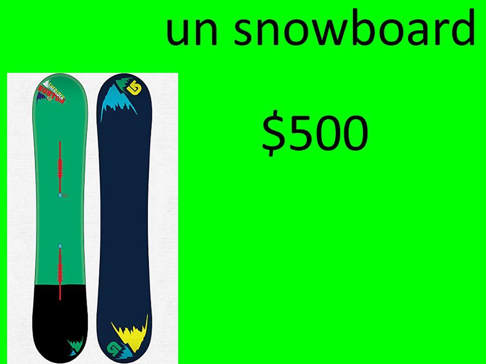un snowboard $500