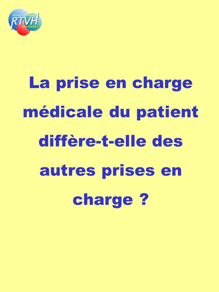 La prise en charge médicale du patient diffère-t-elle des autres prises en charge ?
