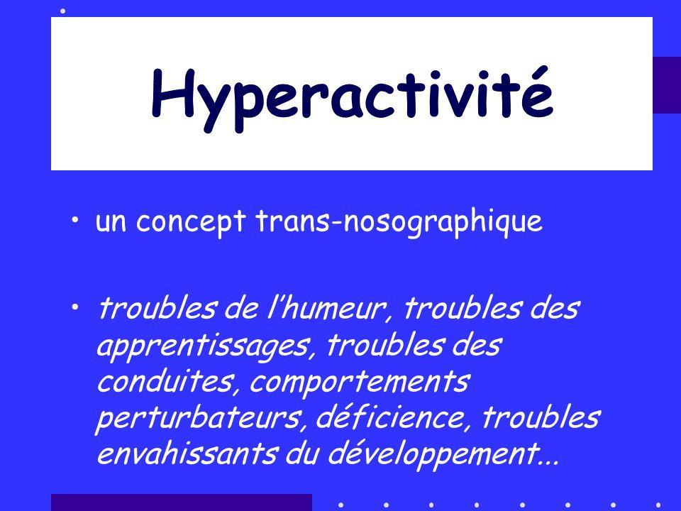 Hyperactivité un concept trans-nosographique troubles de lhumeur, troubles des apprentissages, troubles des conduites, comportements perturbateurs, dé