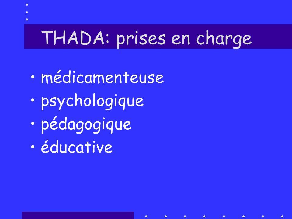 THADA: prises en charge médicamenteuse psychologique pédagogique éducative
