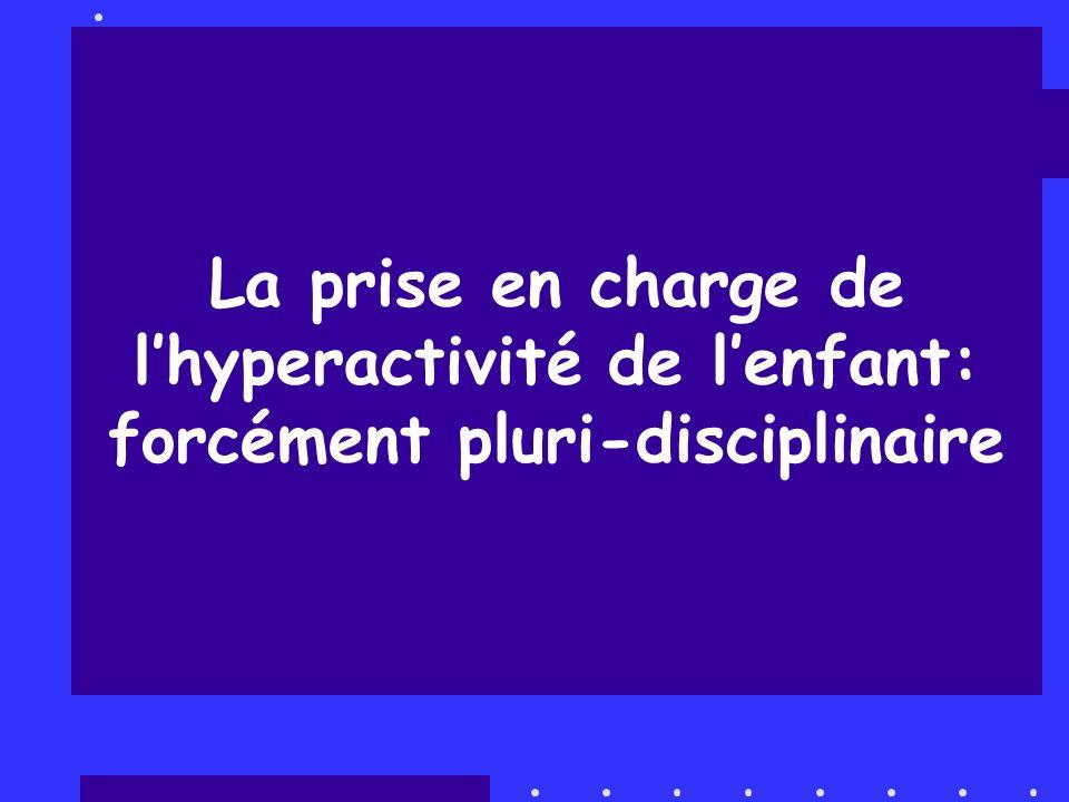 La prise en charge de lhyperactivité de lenfant: forcément pluri-disciplinaire