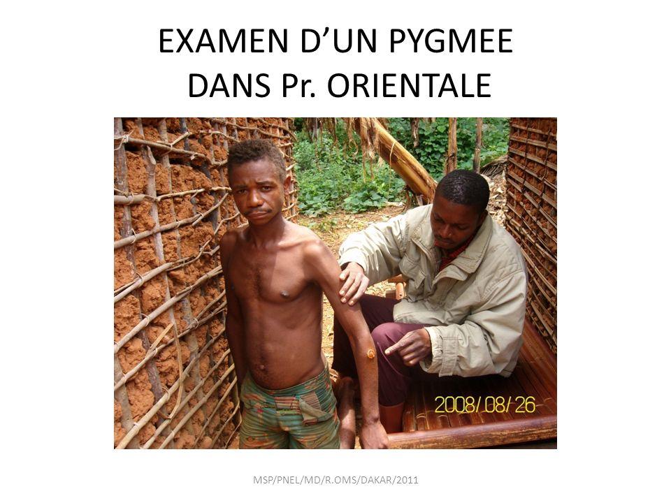 EXAMEN DUN PYGMEE DANS Pr. ORIENTALE MSP/PNEL/MD/R.OMS/DAKAR/2011