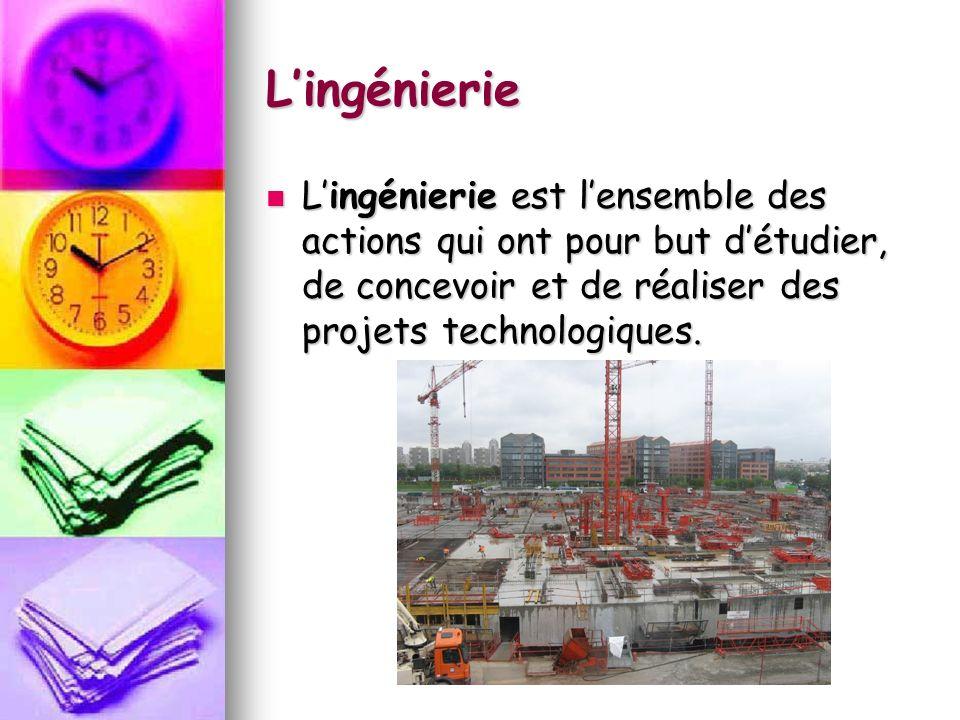 Lingénierie Le cahier de charges est un document qui contient la liste des besoins, des exigences et des contraintes quil faut respecter lors de la réalisation dun projet.