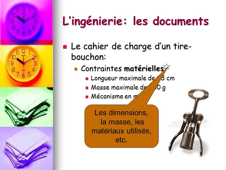 Lingénierie: les documents La projection orthogonale est souvent utilisée en dessin technique.
