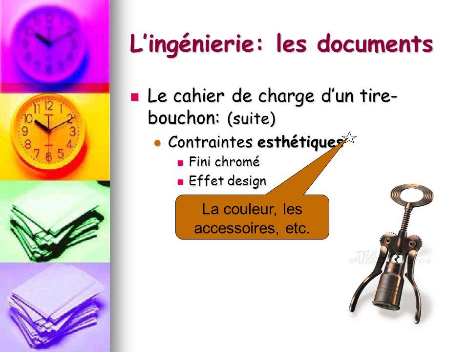 Lingénierie: les documents La vue en coupe permet de montrer lintérieur dun objet technique.