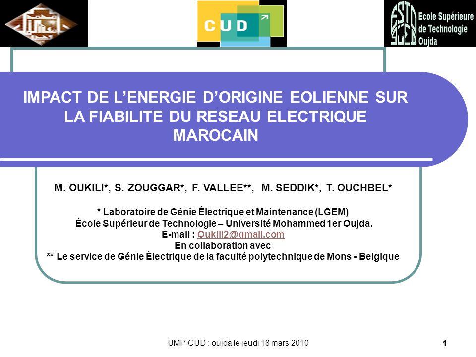 UMP-CUD : oujda le jeudi 18 mars 20102 Plan 1.Introduction 2.