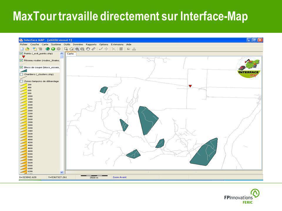 MaxTour travaille directement sur Interface-Map