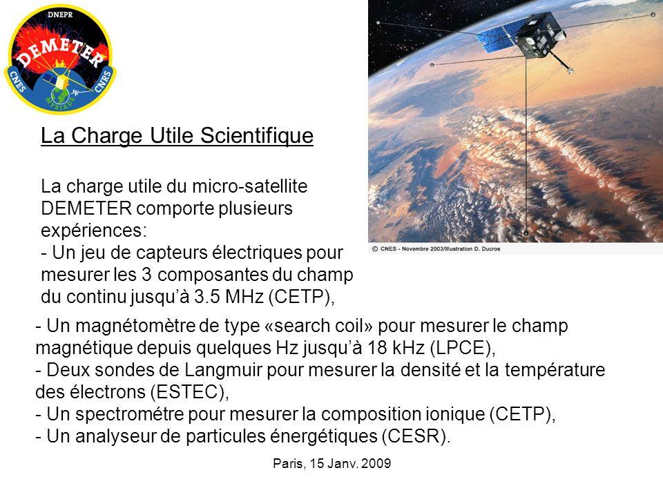 DEMETER va continuer jusquà la fin de 2009 Le site WEB de la mission: http://demeter.cnrs-orleans.frhttp://demeter.cnrs-orleans.fr