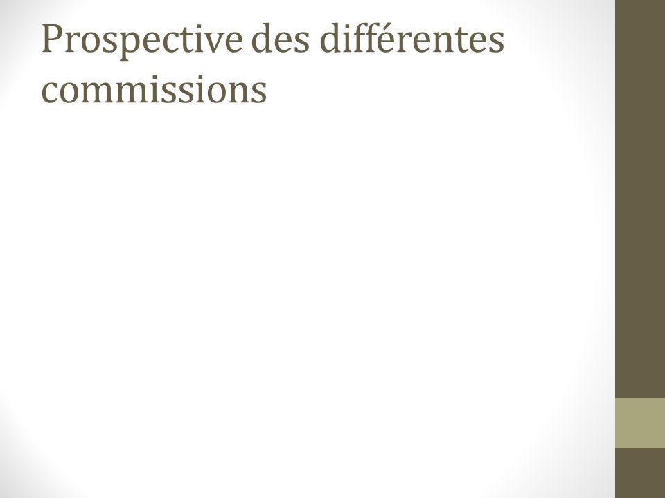 Prospective des différentes commissions