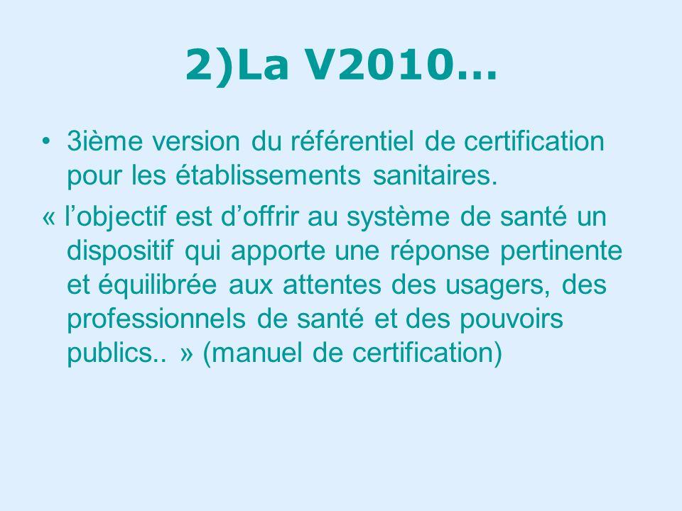 1)la certification . À partir de référentiels.