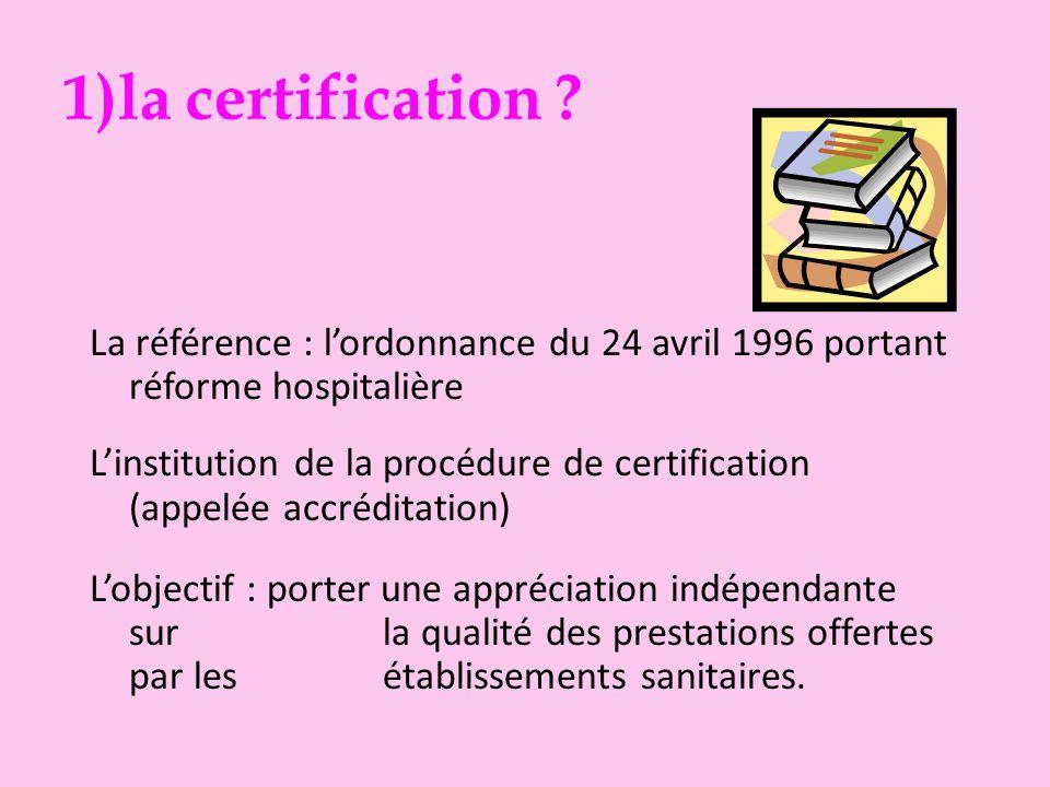 Un parcours rapide en trois temps 1)la certification .