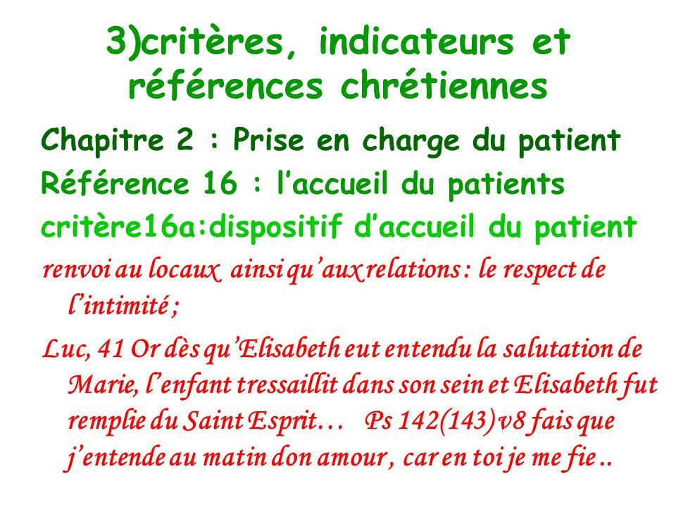 Chapitre 2 : Prise en charge du patient Référence 13 : droit et place des patients critère 13a : prise en charge et droits des patients en fin de vie