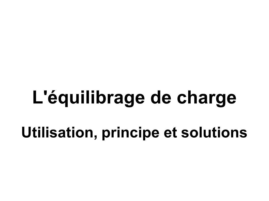 L'équilibrage de charge Utilisation, principe et solutions
