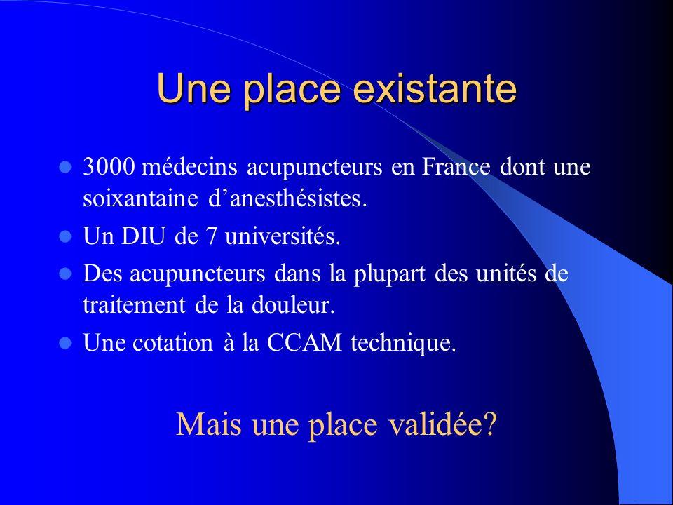 Lacupuncture et sa place dans la prise en charge des syndromes douloureux chroniques, en 2004 Docteur Philippe CASTERA