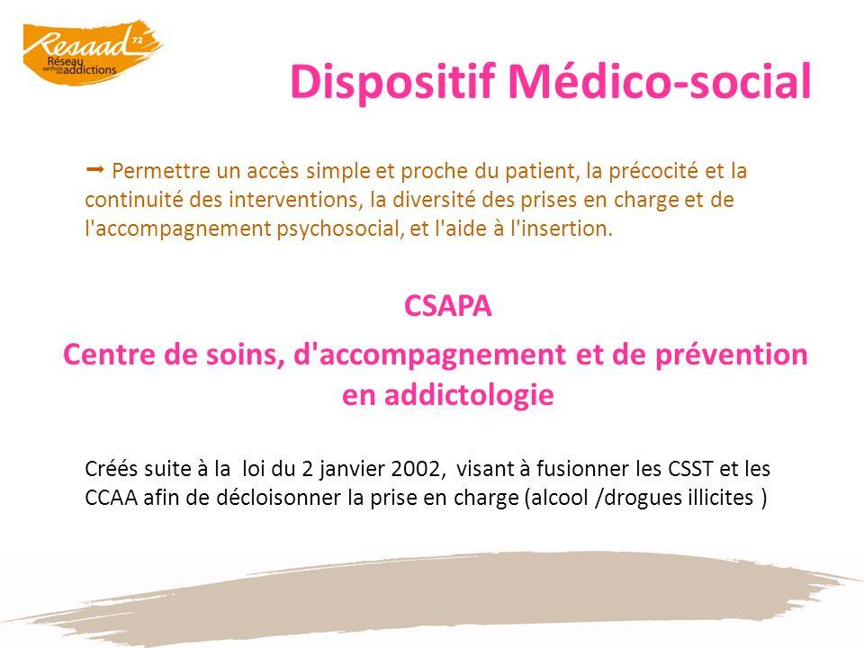 Dispositif Médico-social Permettre un accès simple et proche du patient, la précocité et la continuité des interventions, la diversité des prises en c