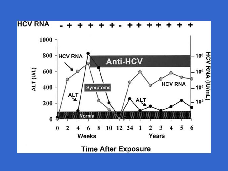Schéma thérapeutiques 24 sem pour génotypes 2-3 48 sem pour génotypes1-4 si diminution ARN > 2 log à S12 Conférence de consensus, traitement de lhépatite C, Paris 2002 1er schéma2ème schéma PEG-INF 2b 1.5 µg/kg/sem 2a 180 µg/sem Ribavirine800 mg < 65 kg 1000 mg 65-85 kg 1200 mg > 85 kg G2-3 : 800 mg G1-4 : 1000 - 1200 mg