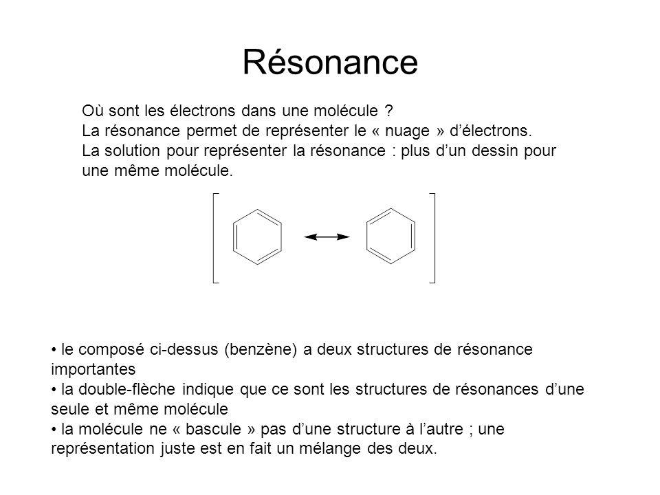 Résonance Où sont les électrons dans une molécule .