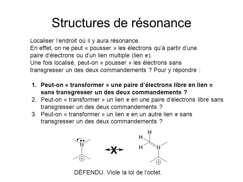 Structures de résonance Localiser lendroit où il y aura résonance.
