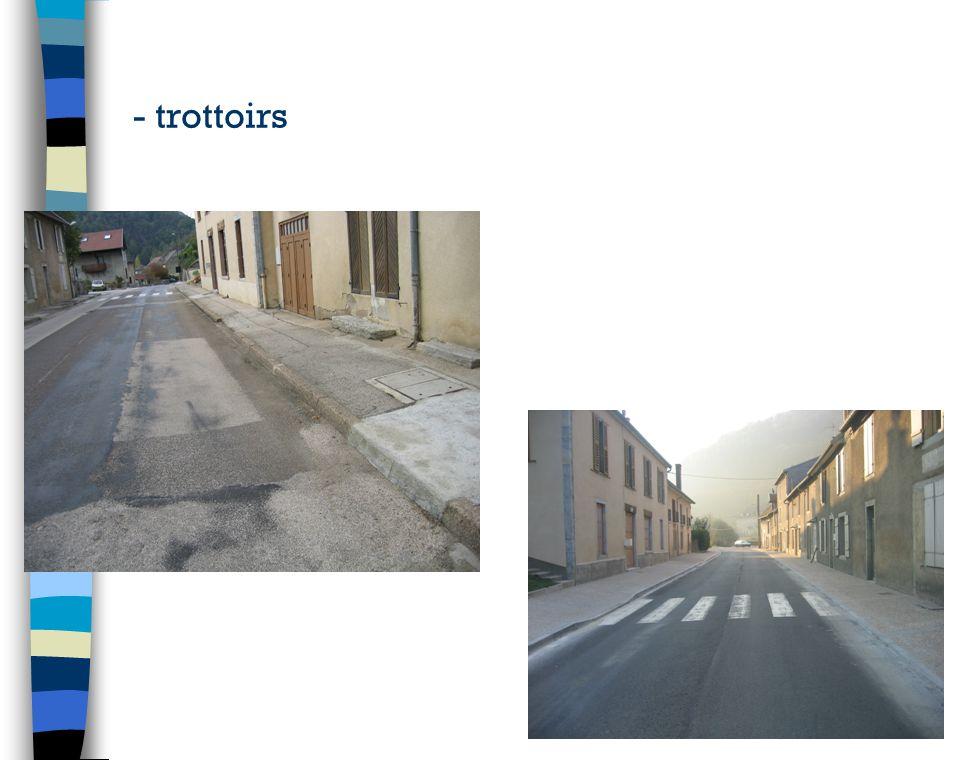 - trottoirs