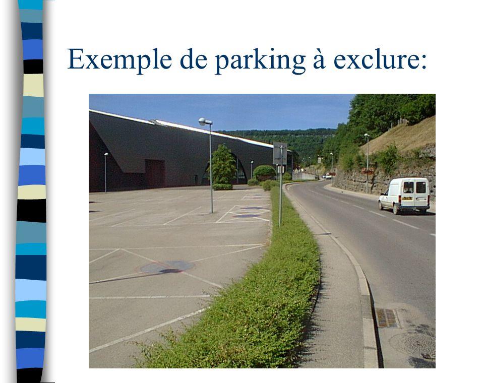 Exemple de parking à exclure: