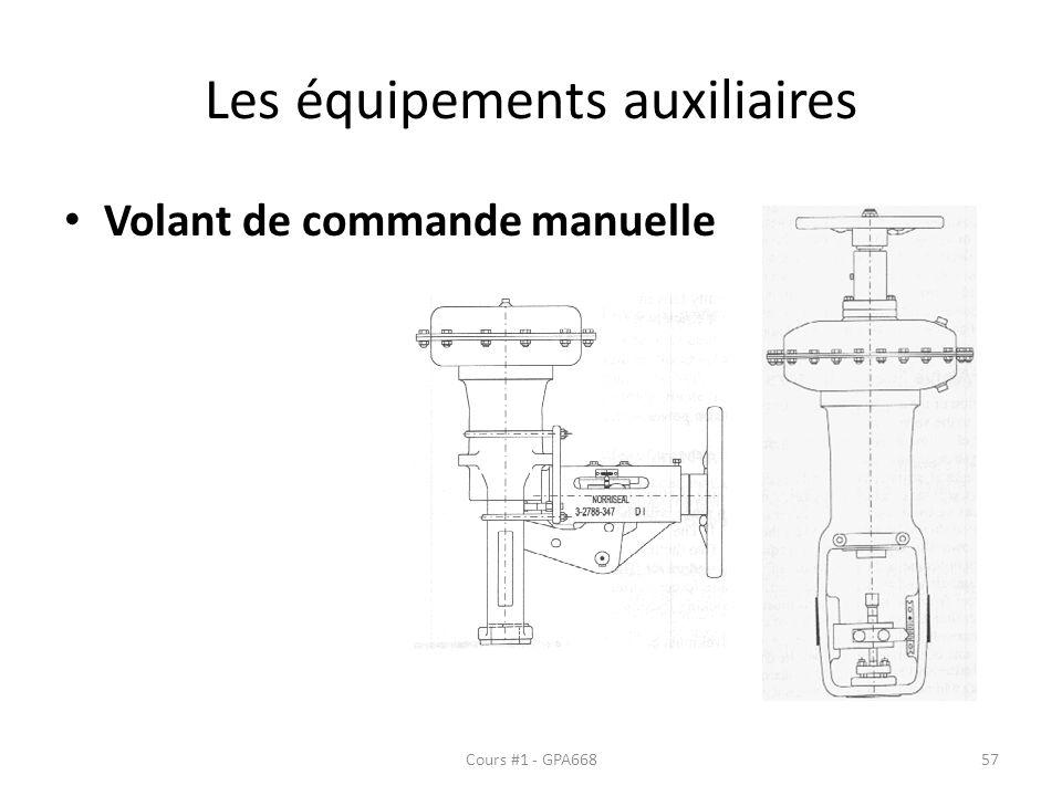 Les équipements auxiliaires Volant de commande manuelle Cours #1 - GPA66857
