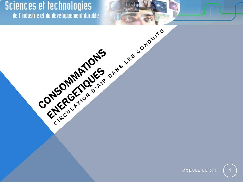 CONSOMMATIONS ENERGETIQUES CIRCULATION DAIR DANS LES CONDUITS MODULE EE 5.1 1