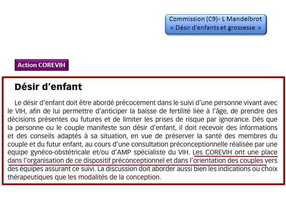 Commission (C9)- L Mandelbrot « Désir denfants et grossesse » Action COREVIH