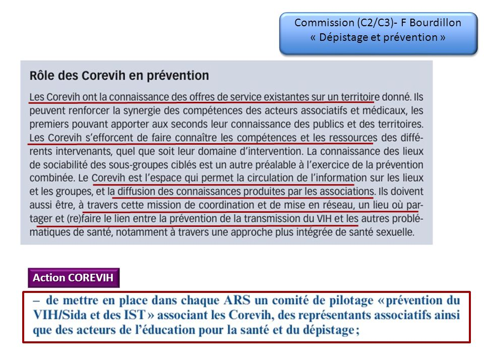 Commission (C4)- B Hoen « Traitement antirétroviral » Action COREVIH .