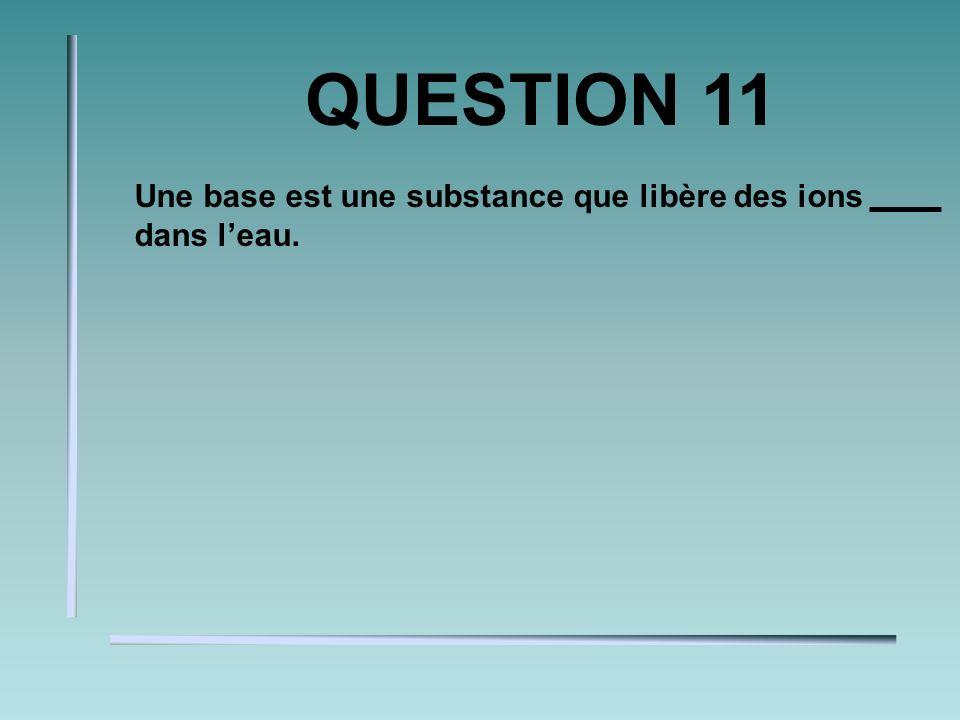 QUESTION 10 Lorsquun atome contient moins délectrons que de protons, il devient un.