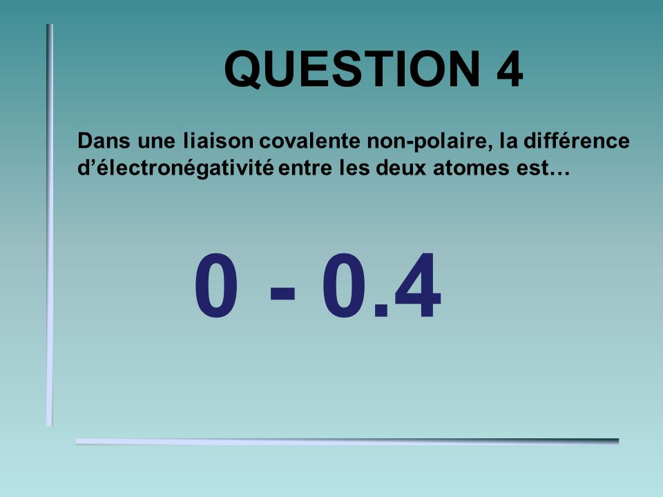 QUESTION 3 Donne la charge de lion de: Na+1