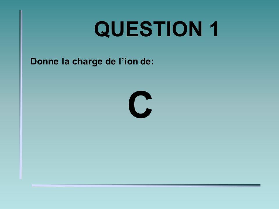 QUESTION 1 Donne la charge de lion de: C