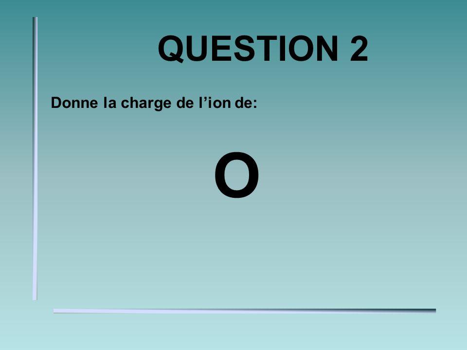 QUESTION 2 Donne la charge de lion de: O
