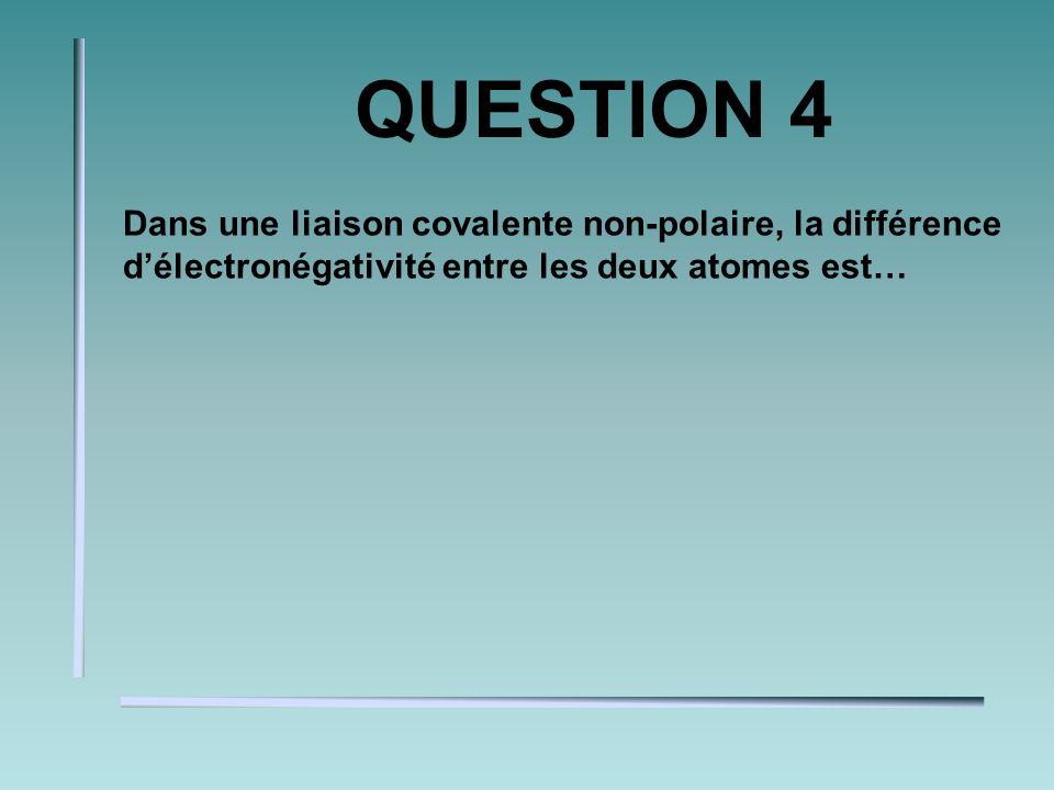 QUESTION 3 Donne la charge de lion de: Na