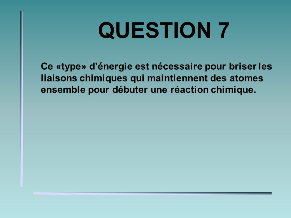 QUESTION 6 Une substance qui interagit avec de leau se nomme.