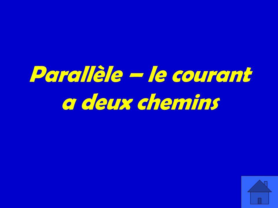 Parallèle – le courant a deux chemins