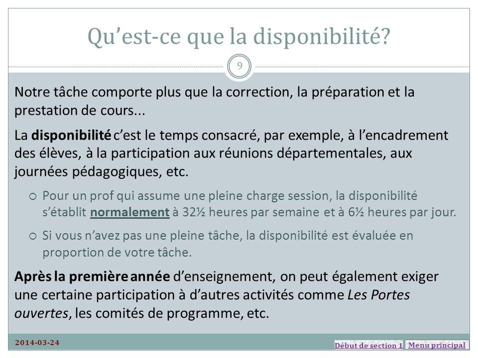 Menu principal Retraite 2014-03-24 Diapositive à venir. Menu de la section 6 50