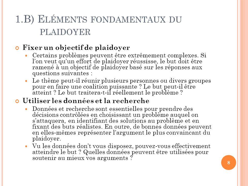 8.B) T ECHNIQUES DE PRÉSENTATION PERSUASIVES Se préparer pour les réunions et les présentations Etape 4 : La pratique .