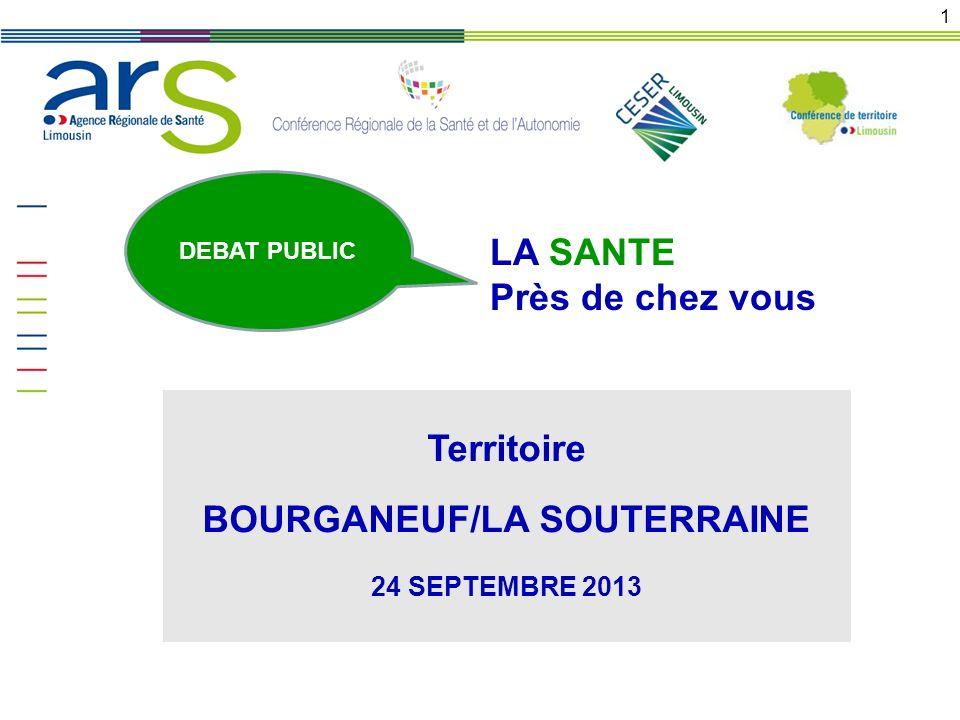 Territoire BOURGANEUF/LA SOUTERRAINE 24 SEPTEMBRE 2013 1 DEBAT PUBLIC LA SANTE Près de chez vous
