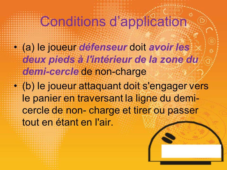 Conditions de la non application!!.
