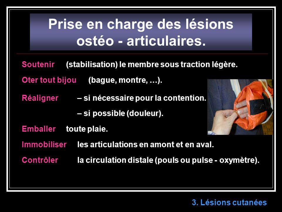 Prise en charge des lésions ostéo - articulaires.3.