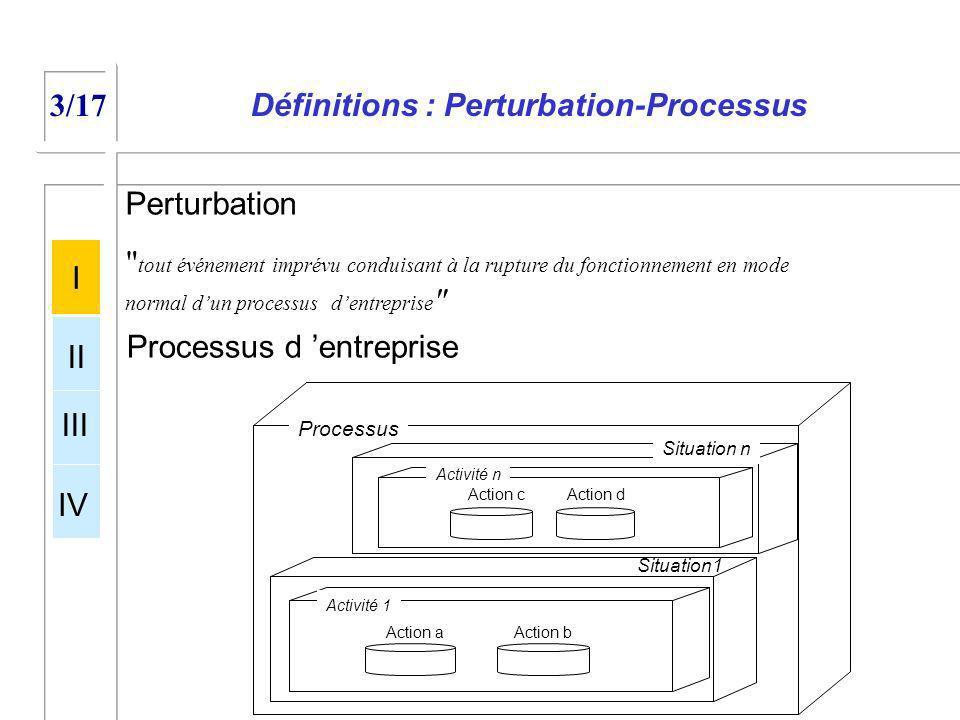 3/17 Définitions : Perturbation-Processus Perturbation