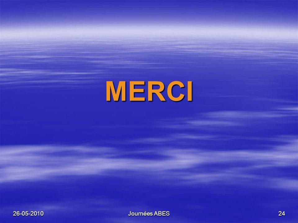 26-05-2010Journées ABES24 MERCI