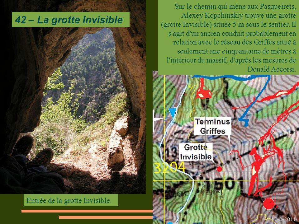 Entrée de la grotte Invisible.
