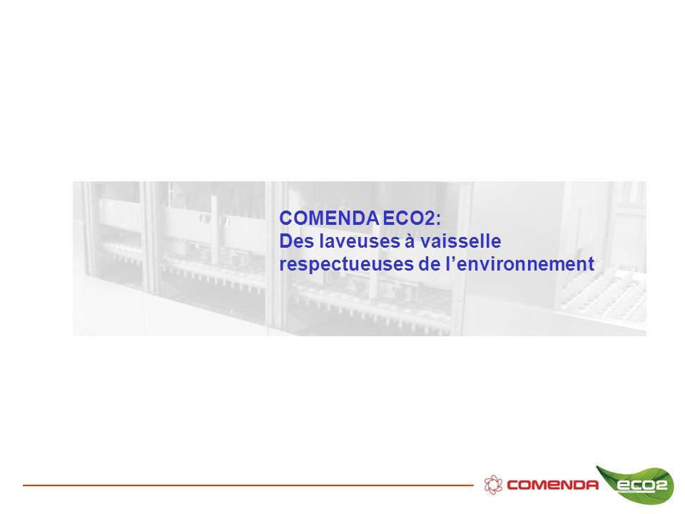 COMENDA ECO2: Des laveuses à vaisselle respectueuses de lenvironnement