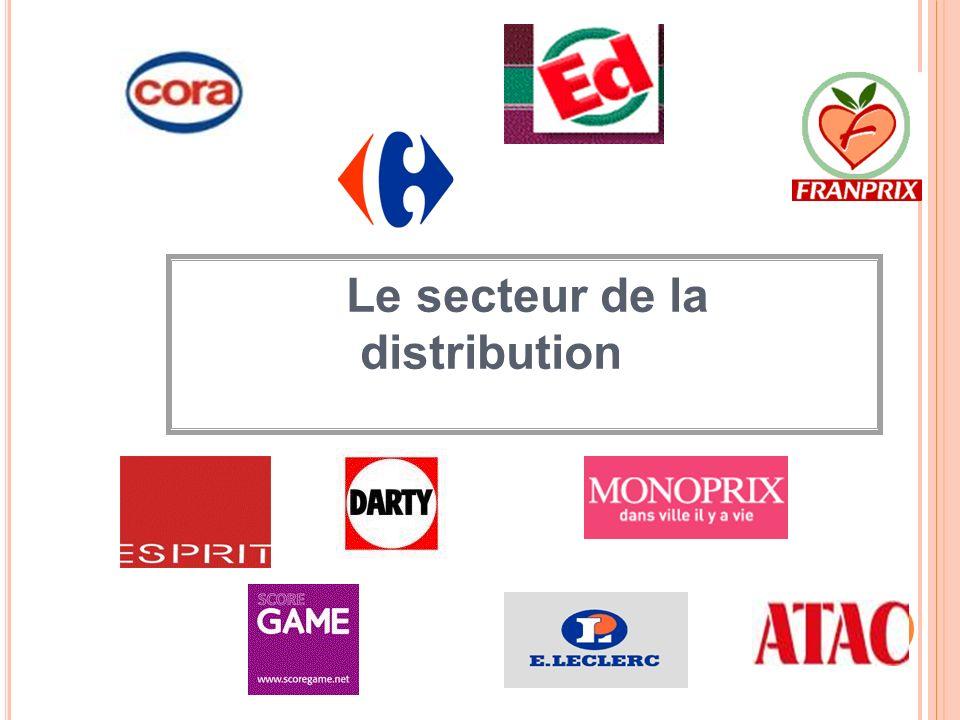 Le secteur de la distribution