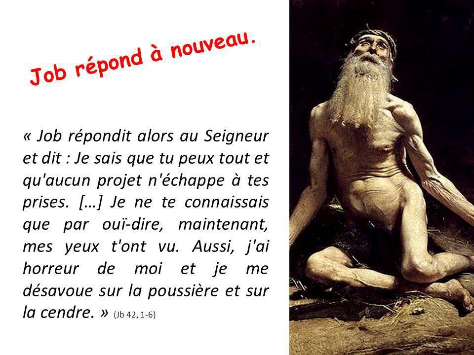 « Job répondit alors au Seigneur et dit : Je sais que tu peux tout et qu aucun projet n échappe à tes prises.