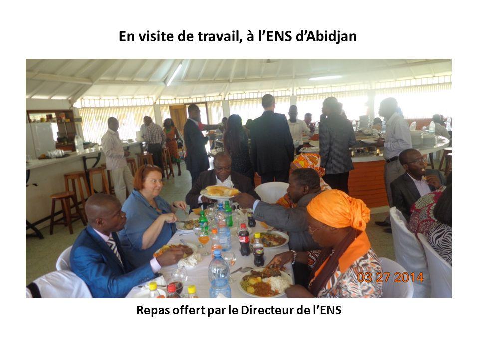 Repas offert par le Directeur de lENS En visite de travail, à lENS dAbidjan